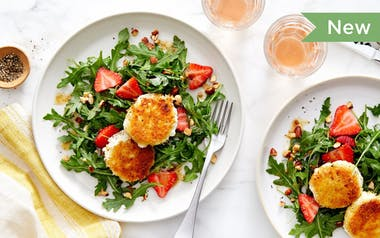 Wild Arugula Salad with Panfried Goat Cheese