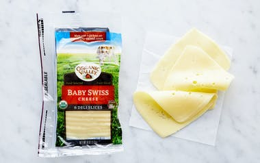 Organic Sliced Baby Swiss Cheese