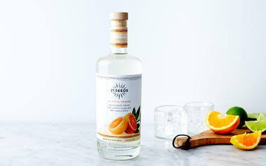 Blanco Tequila Infused with Valencia Orange
