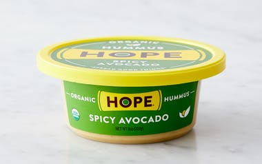 Organic Spicy Avocado Hummus