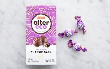 Organic Dark Black Chocolate Truffles