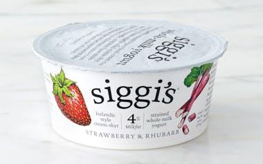 Whole Milk Strawberry & Rhubarb Icelandic Yogurt