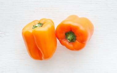Organic & Fair Trade Large Orange Bell Pepper Duo (Mexico)