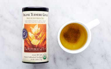 Organic Turmeric Ginger Green Tea