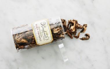 Small Dried Wild Black Trumpet Mushrooms