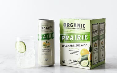 Organic Sparkling Cucumber Lemonade Craft Cocktail