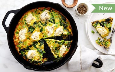 Dairy-Free Spring Frittata with Peas & Mint