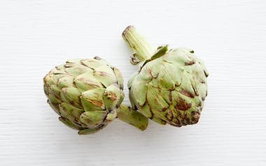 Organic Large Frost-Kissed Artichoke Duo