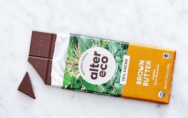 Organic Dark Salted Brown Butter Chocolate Bar (70%)
