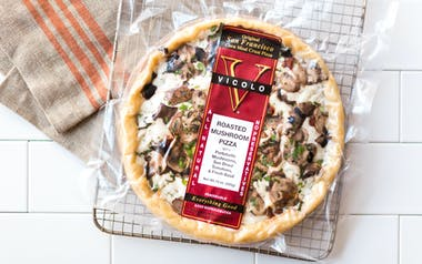 Roasted Mushroom Cornmeal Crust Pizza