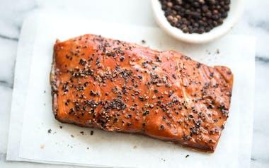 Wild Smoked Alaskan Sockeye Salmon (Frozen)