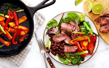 Steak Salad with Black Beans & Roasted Peppers