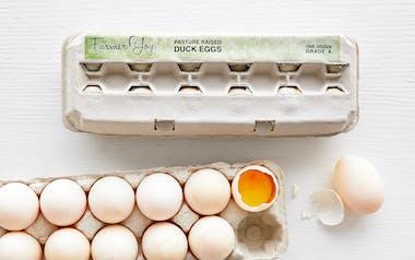 Jumbo Pasture Raised  Duck Eggs