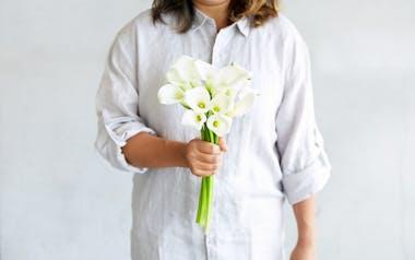 White Mini Calla Lilies