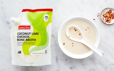 Coconut Lime Chicken Bone Broth