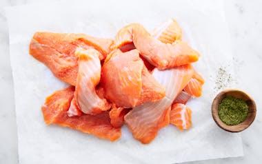 Wild Coho Salmon Pieces (Frozen)