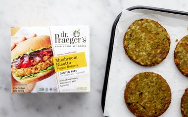 Mushroom Risotto Veggie Burger