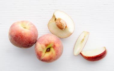 Organic Summer Sweet White Peaches