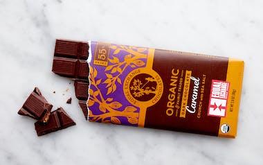Organic Dark Chocolate Caramel Crunch with Sea Salt