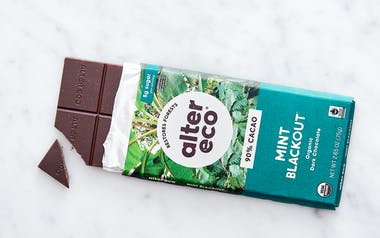 Organic Superdark Mint Crisp Chocolate Bar (90%)