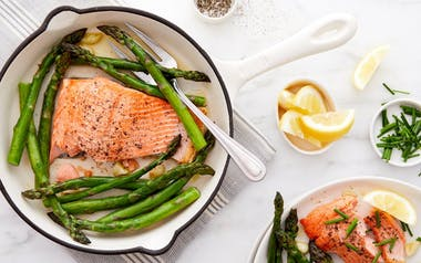 One-Pan Trout with Asparagus