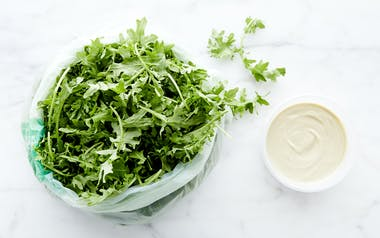 Pre-Washed Baby Kale with Tahini Vinaigrette