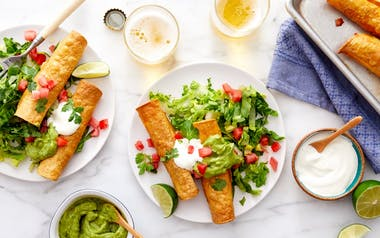 Baked Black Bean Taquitos with Guacamole