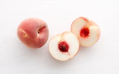 Organic Large Summer Sweet White Peach Duo