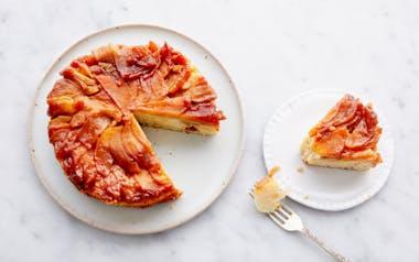 Apple & Honey Upside-Down Cake