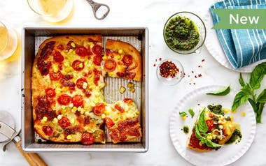 Pan Pizza with Summer Veggies