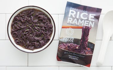 Black Rice Ramen with Miso Soup