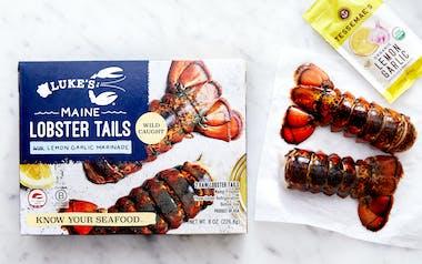 Maine Lobster Tail with Lemon Garlic Marinade (Frozen)