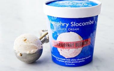 Strawberry Blondie Ice Cream