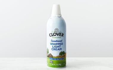 Organic Lightly Sweetened Whipped Cream
