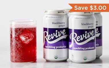 Organic Blackberry Grape Sparkling Probiotic