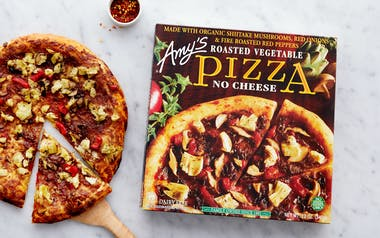 Vegan Roasted Vegetable Pizza