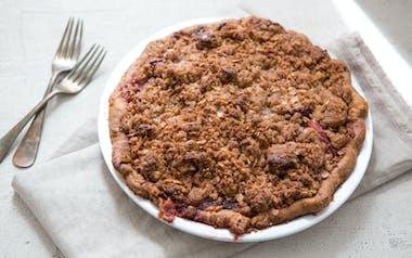 Stone Fruit Crumb Pie