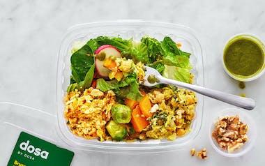 Paneer, Brussels Sprouts & Butternut Squash Poriyal Salad