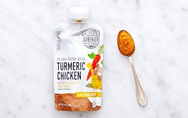 Turmeric Chicken Bone Broth Toddler Puree