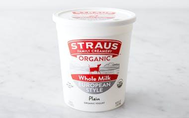 Organic Plain Whole Milk Yogurt