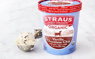 Organic Vanilla Chocolate Chip Ice Cream