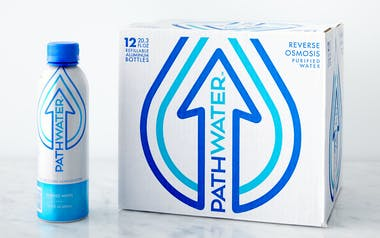 Case of Purified Water in Refillable Aluminum Bottle