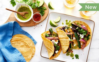 Zucchini Tacos with Black Beans