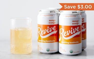 Organic Mango Orange Sparkling Probiotic