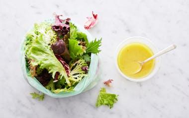 Pre-Washed Salad Greens with Meyer Lemon Vinaigrette