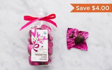 Organic Raspberry & Dark Chocolate Hearts