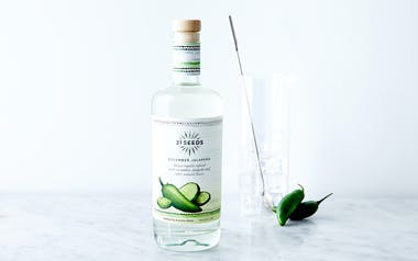 Blanco Tequila Infused with Cucumber & Jalapeño