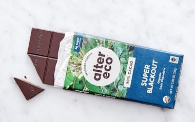 Organic Dark Super Blackout Chocolate Bar (90%)