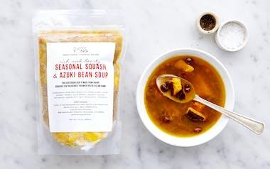 Seasonal Squash & Azuki Bean Soup