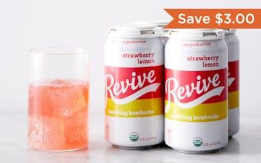 Organic Strawberry Lemon Sparkling Probiotic
